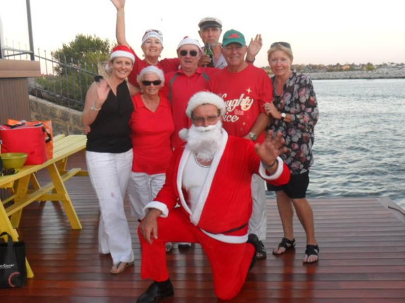 port mandurah Santa afloat